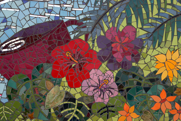 Mosaic mural intensive with laurel true what are you for Mural mosaic
