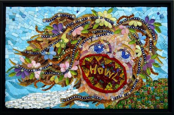 Howl, Mosaic Art by Pamela Goode
