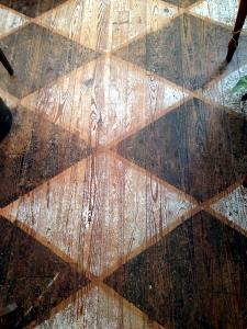 Diamond Painted Floor