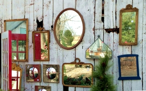 Mirrors and Old Barn